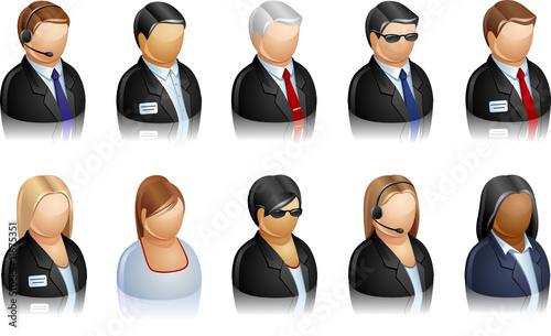 zestaw ikon reprezentujących ludzi
