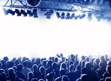 Fototapety Konzert-Publikum blau weiss