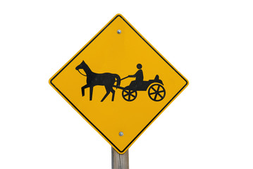 HORSE AND BUGGY WARNING SIGN