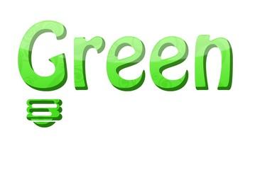 green power fond blanc