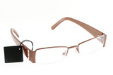 fashionable corrective spectacles on white background poster