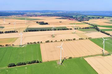 Luftaufnahmen, Windräder