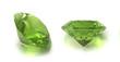 Emerald, birthstone, peridot or chysolite gems