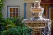 Leinwandbild Motiv Garden fountain in St. Augustine, Florida