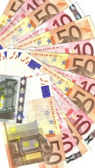 details of european banknotes background