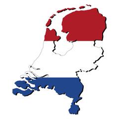 Netherlands map flag
