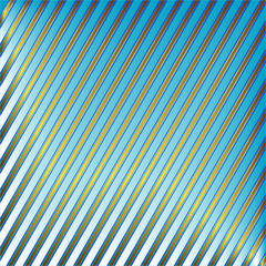 Diagonal blue and golden striped background (vector)
