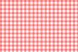 Tschdecke rot weiß kariert