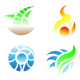 3 elements of fire pictures cartoon