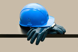 hardhat and  gloves poster