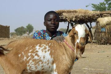 L'éleveur et son bouc