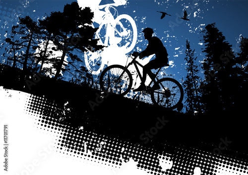 Illustration: Mountain bike abstract background