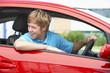Teenage Boy Sitting In Car - 11702792