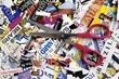 Scissors and Magazine Clippings