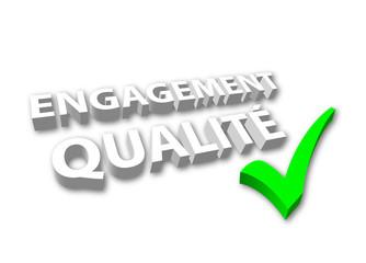 """Image 3D """"Engagement Qualité"""" (avec Coche)"""