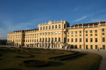 beautiful palace Schönbrunn in Vienna