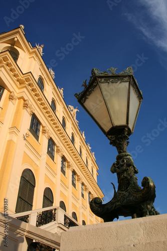 old lantern in palace Schönbrunn in Vienna