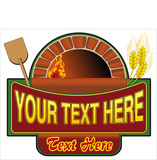 vector illustration of firewood oven with shovel and grain poster