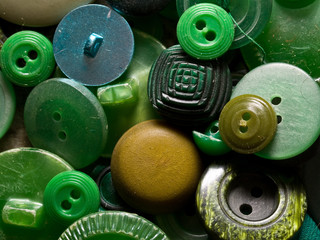 Old green buttons