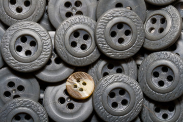 Grey old buttons