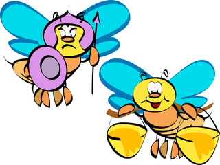 bee couple cartoon