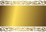 Gentle golden background (vector) poster