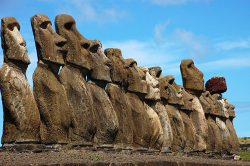 15 Moai at Ahu Tongariki (Easter Island, Chile)