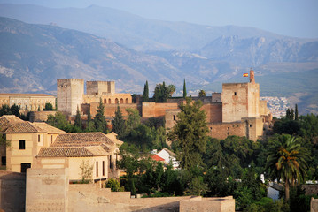 View on Alhambra and Sierra Nevada