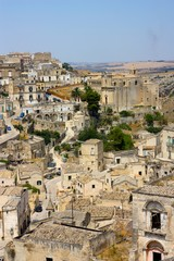 A view of the town of Matera in Basilicata, Italy