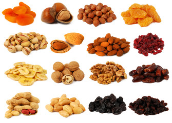 Nuts and dried fruits collection