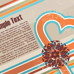 Valentines grunge background with free space for your text