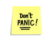Stickies/Post-it Notes: Don't Panic!