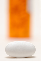 One pill close-up