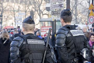 gendarmerie surveillance manifestation