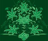 vector botanical garden pattern poster