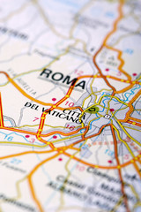 Vatican Map Detail; selective focus