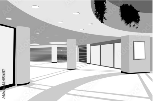 modern enclosed shopping center background