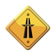 Warning sign - highway