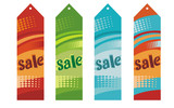 vector set of sale labels