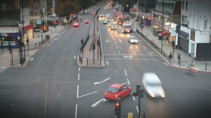 timelapse of london intersection
