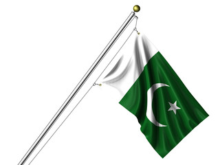 Isolated Pakistani Flag