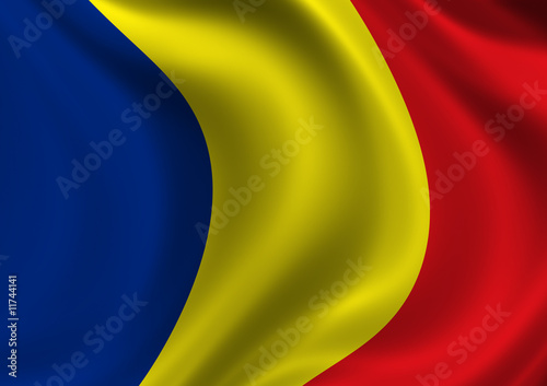 Romania 2 Flag of