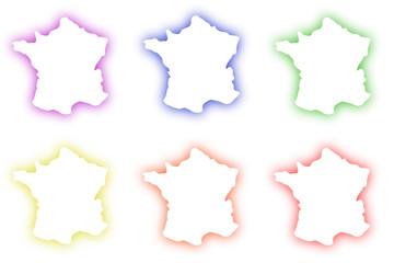 pictogrammes france néon