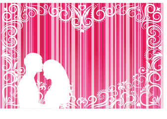 Valentine background with stripes.