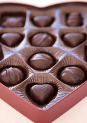 close shot of chocolates
