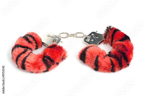 red handcuffs for sexual joys