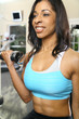 Smiling African American Woman Working Out