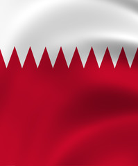 Qatar State of Flag Closeup