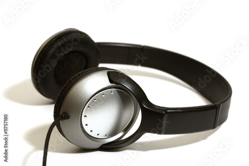 stereo head phones on a white background
