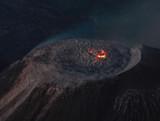 Vulkan Santa AMria mit glühendem Lavadom